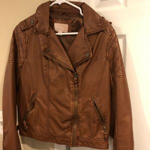 Faux leather jacket excellent worn once